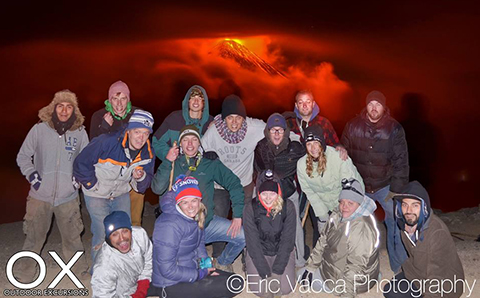 group at hiking pacaya when fuego erupted february 7th